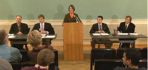 Screencap from the Gaudino Debate Video.